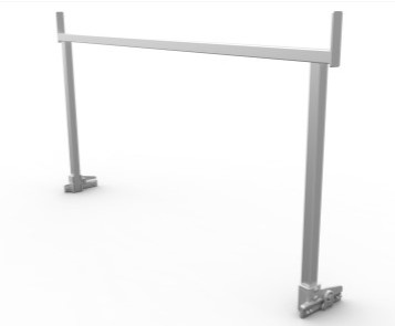 Square Rear Rack